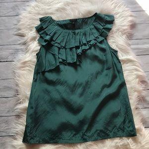 Ann Taylor Emerald Green Silk Tank sz S